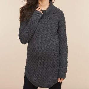 Motherhood Maternity Cozy Honeycomb Knit Sweater
